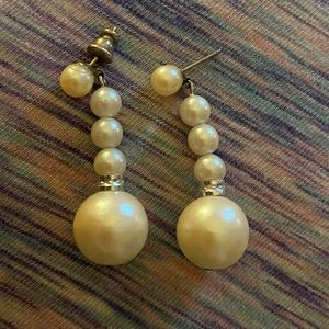 Pearl Earrings. Not sure how old.